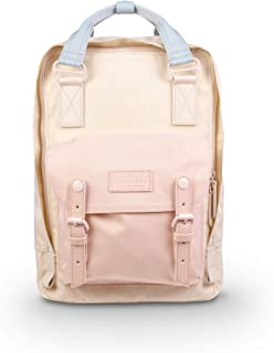 甜甜圈马卡龙自然苍白系列 16L 旅行学校女士大学生轻质通勤休闲背包背包 HAZY X SOFT SUNRISE