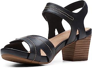 Clarks 女士 Un Palma Vibe 高跟凉鞋