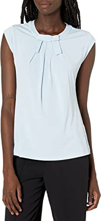 Karl Lagerfeld Paris Short Sleeve Top With Bow