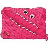 ZIPIT Monster Big 铅笔盒/化妆包,粉色