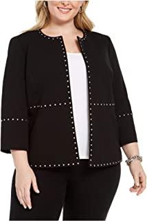 Kasper 女式黑色西装外套工作外套尺码 1X
