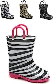 Storm Kidz 女童印花雨靴混装动物印花幼儿/小童/大童尺码