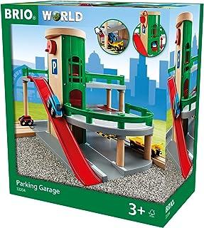 BRIO World - 33204 停车库模型 | 铁路配件与玩具汽车,适合 3 岁及以上儿童