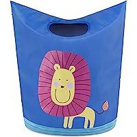 KMD 儿童洗衣篮,可折叠脏衣服篮,弹出式收纳箱,适用于婴儿、育儿、男孩和女孩卧室装饰 Lion