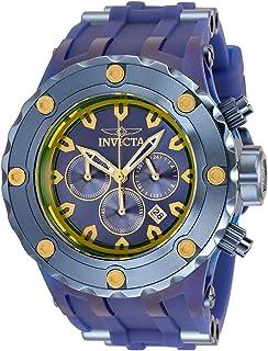 Invicta 男式 Subaqua 石英手表,不锈钢硅胶表带,蓝色,31(型号:34264)