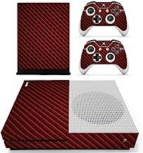 Adventure Games - XBOX ONE S - 碳纤维,红宝石红色 - 乙烯基控制台皮肤贴花贴纸 + 2 个控制器皮肤套装