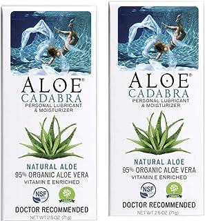Aloe Cadabra 天然个人润滑剂,**佳润滑剂口服凝胶,无香型,2.5 盎司(约 70.9 克)(2 瓶装)