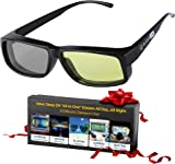 適合多合一的藍光阻隔眼鏡 + 變色太陽鏡 + 偏光駕駛眼鏡 + 偏*眼鏡 - 女士和男士看到更好的白天和夜晚 - 更好的* - 阻止**和*