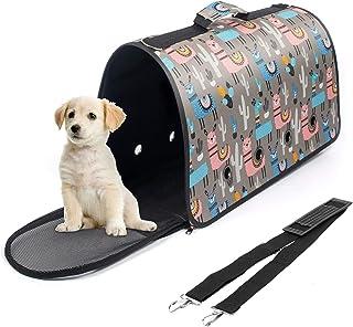BestMal 宠物背带,适合小型中型猫狗,15 磅,软面宠物运输箱航空公司批准,透气 4 个窗户,20.5 x 8.7 x 11.4 英寸