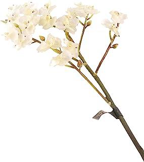 花朵优雅69cm单茎白色微型蝴蝶兰×12-人造丝花系列,十二个
