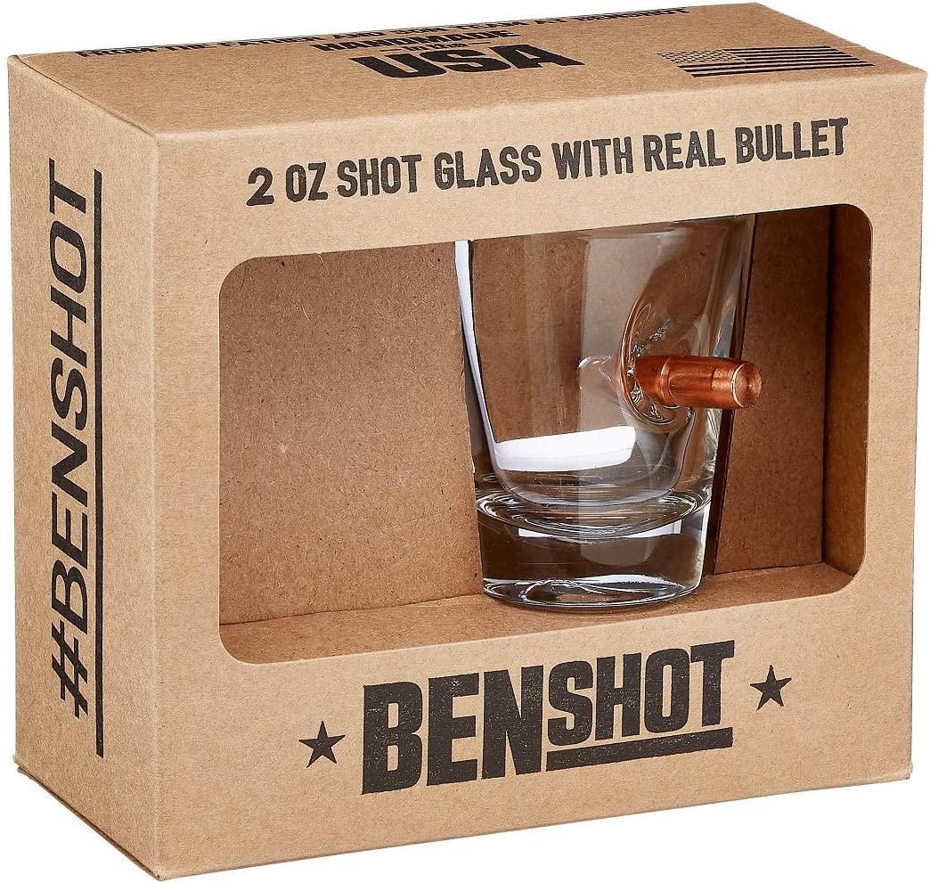 带真正的0.308子弹,美国制造:BenShot 创意子弹酒杯 59ml