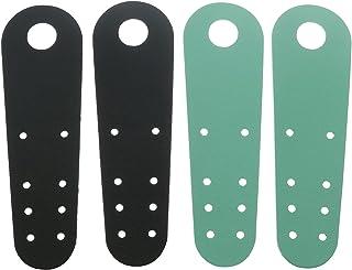 ZRM&E 2 双滑冰鞋脚趾保护皮革平滑冰脚趾保护器溜冰鞋耐用鞋头适用于溜冰鞋配件(1 双黑色 + 1 双*)