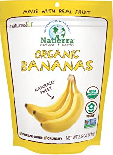 Natierra Nature's All Foods Organic Freeze-Dried Bananas, 2.5 Ounce