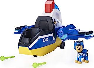 Paw Patrol 狗狗巡逻队,喷气救援豪华变形螺旋救援飞机,带灯光和声音