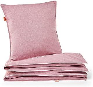 Bibu 被套,带枕套,再生50%*棉,粉红色,nórdica 150 x 220 厘米/Funda almohada 60 x 60 厘米