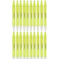 Crayola Take Note 可擦除荧光笔,酷炫学校用品,凿尖标记笔,20 支黄色