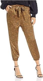 Joie 女式金色领带动物印花裤子 XS 码