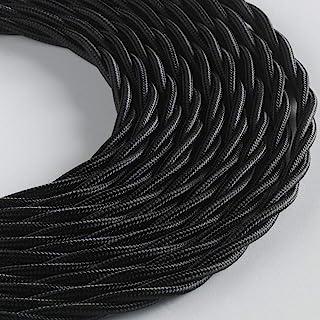 BELLE ÉPOQUE 编织纺织电缆复古电气安装 3 x 1 mm 5 m 黑色