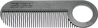 Chicago 梳子 型号 2 碳纤维 美国制造 防静电 长 10 厘米 细齿 口袋 & 旅行梳子 适用于较薄的* 胡须 梳子