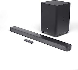 JBL Bar 5.1环绕声条形音箱 - 家庭娱乐系统,带流媒体功能和低音炮,黑色