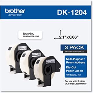 Brother Genuine DK-12043PK 多功能纸标签卷,模切纸标签,每卷 400 个标签,(3) 卷(DK12043PK)