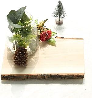 乡村风格杨木板材 - 27.94 厘米 x 22.86 厘米 | 矩形| 自然| 1 件