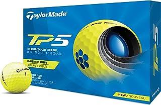 TaylorMade 中性 TP5 黄色高尔夫球,均码