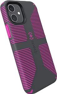 Speck 产品 CandyShell Pro Grip iPhone 12,iPhone 12 Pro 手机壳,石灰色 / 这是一款振动紫罗兰色