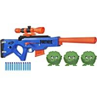 NERF Fortnite BASR-R Bolt 动作玩具枪 -- 包括 3 个灌木靶、可拆卸瞄准镜、6 个软头弹夹…