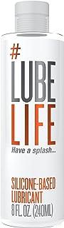 #LubeLife 肛门润滑剂 - 厚硅胶润滑剂,8 盎司防水*润滑油,适用于男士、女士和情侣(不含防腐剂、甘油和油)