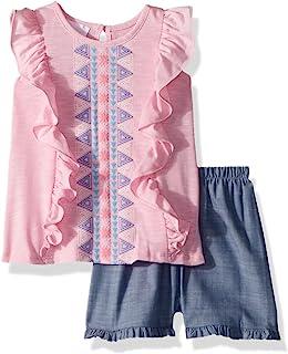 Bonnie Baby 女童上衣和短裤套装