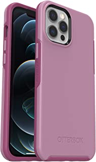 OtterBox Symmetry - 优雅超薄防坠落保护套,适用于 Apple iPhone 12 Pro Max,粉红色