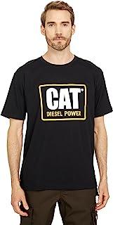Caterpillar 男式 Cat Diesel Power 短袖经典修身 T 恤