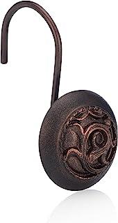 EssentraHome 青铜浴帘挂钩 12 件套,采用无锈青铜挂钩