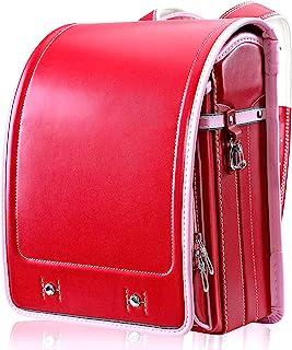 Randoseru 日本小学生书包,男童和女童背包(新红色)