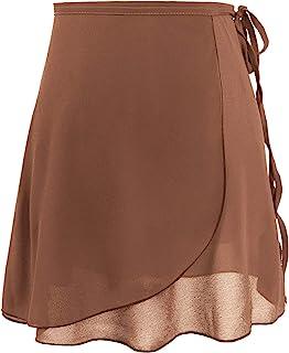 Cuulrite 芭蕾裙 女式 / 成人 雪纺 舞蹈 裹身短裙