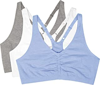 Fruit of the Loom Women's Shirred-Front Sport Bras(Pack of 3)