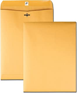 Quality Park Clasp 9 x 12 Inch 28lb Brown Kraft Envelopes
