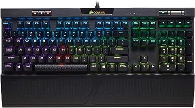 CORSIAR 美商海盗船 K70 RGB MK.2 机械游戏键盘-USB直通和媒体控件-线性静音-樱桃红-RGB LED背光