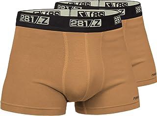 281Z *内衣棉质 2 英寸四角裤 - 户外战术远足 - 惩罚者战斗线(2 双装)
