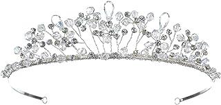 手工制作水钻水晶花珠新娘婚礼头饰冠
