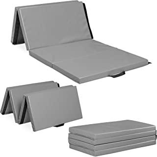 Relaxdays 健身垫 200 × 100 可折叠,5 厘米厚,可扩展,柔软地板垫,适用于家庭,手柄,防水,颜色可选