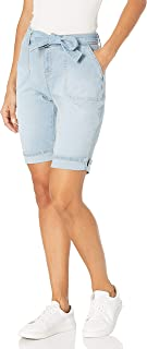 Gloria Vanderbilt 女式别致自腰带百慕大短裤