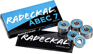 RADECKAL Blue ABEC 7 滑板轴承,滑板,长板,巡洋舰,直排轮滑,轮滑,预润滑,高精度等级,持久耐用