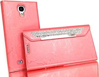 *** - CAD 三星 - S4 - 翻盖 - 手机壳 - 人造宝石 - 粉色外壳 Clutch 不锈人造宝石翻盖手机壳适用于三星 Galaxy S IV i9500