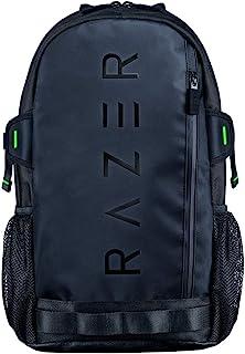 Razer 雷蛇 Rogue V3 背包(13.3 英寸)彩色版 - 紧凑旅行背包(隔层可容纳 13 英寸的笔记本电脑,耐磨,外层由聚酯纤维制成)黑色