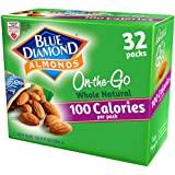 Blue Diamond Almonds 全天然生零食坚果,100卡路里旅行袋,32计数