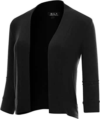 BH B.I.L.Y USA 女式经典前开襟短款开衫