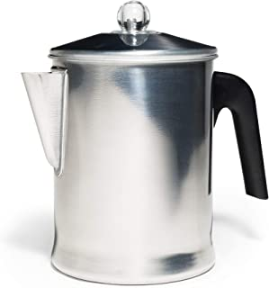 Primula Today 铝炉顶过滤器,经久耐用,炉灶上冲泡咖啡,9 杯