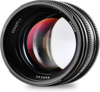 kamlan 50mm / f1.1标准 PRIME 镜头, X 支架适用于所有 Fujifilm X 系列 mirrorless 数码相机, APS-C ,大光圈